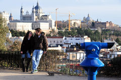 访客在Madird西班牙 免版税库存照片