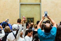 访客拍列奥纳多・达・芬奇` s照片  免版税库存图片