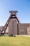 访客Zeche Zollverein 免版税库存图片