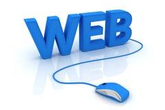 访问万维网 免版税图库摄影