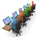 访问企业互联网 免版税库存图片