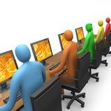 访问企业互联网 库存例证