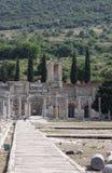 访问古希腊-罗马市以弗所在实际土耳其 图库摄影