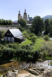 访问圣母玛丽亚,地方朝圣, Hejnice,捷克的巴洛克式的大教堂 免版税库存图片