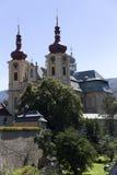 访问圣母玛丽亚,地方朝圣, Hejnice,捷克的巴洛克式的大教堂 免版税图库摄影