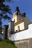 访问圣母玛丽亚,地方朝圣, Hejnice,捷克的巴洛克式的大教堂 库存图片
