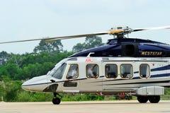 访问泰国的AgustaWestland AW189亚洲游览 免版税库存照片