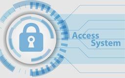 访问系统技术背景作为安全 免版税库存照片