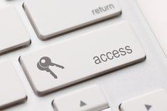 访问输入键 免版税库存照片