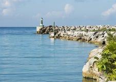 访问运河1对Puerto Aventuras从法蒂玛海湾 免版税库存照片