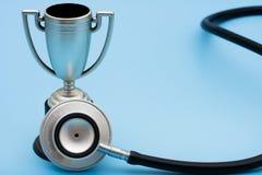 证书医疗保健服务赢取 库存图片