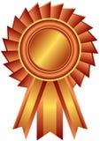 证书古铜色丝带向量 库存例证
