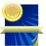 证书图象 免版税图库摄影