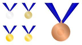 证书奖牌 库存图片