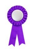 证书徽章紫色丝带 库存照片