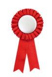 证书徽章红色丝带 免版税库存照片