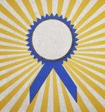 证书空白蓝色 免版税库存图片