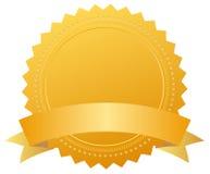 证书空白金黄奖牌 免版税库存图片