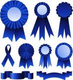 证书蓝色丝带 免版税图库摄影