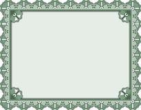 证书证明模板 免版税库存图片