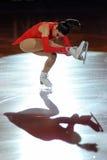 证书金黄marchei冰鞋溜冰者valentina 免版税库存照片