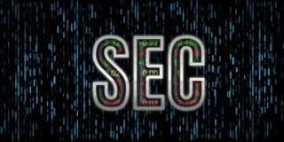 证券交易委员会文本例证 与里面库存号码的SEC信件金属边缘反射玻璃盖 皇族释放例证