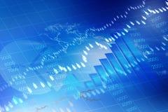证券交易所图形 免版税库存照片