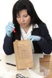 证据检查 免版税库存图片