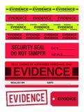 证据磁带、邮票、贴纸和标签 向量例证