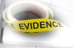 证据磁带 免版税库存图片