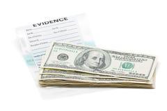 证据货币 库存照片