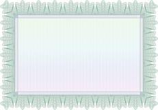 证明或文凭模板。复杂设计,被隔绝 免版税库存照片