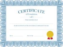 证明文凭传染媒介模板 免版税库存图片