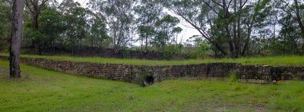 证明有罪足迹或伟大的北路在Bucketty附近,在洪特尔谷,NSW,Austrialia 免版税库存图片
