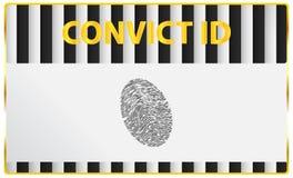 证明有罪身份证指纹 向量例证