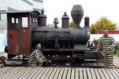 证明有罪雕塑在乌斯怀亚 乌斯怀亚是最南端的城市在世界上 免版税图库摄影