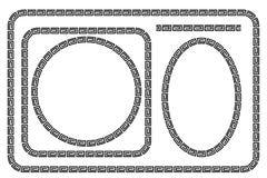 证明,招贴的无缝的金黄方形的框架去XI油脂Cai, Imlek片刻或其他中国关连 免版税库存照片