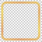 证明,招贴的无缝的金黄方形的框架去XI油脂Cai, Imlek片刻或者其他中国被关系,在透明作用Ba 图库摄影