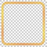 证明,招贴的无缝的金黄方形的框架去XI油脂Cai, Imlek片刻或者其他中国被关系,在透明作用Ba 免版税库存照片