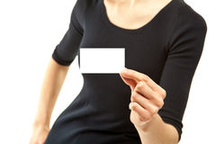 证章显示妇女年轻人的空白特写镜头现有量s 免版税库存图片