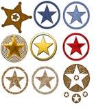 证章西部国家(地区)的星形 库存照片