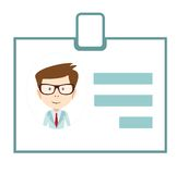 证章ID象企业id标志徽章人名 免版税库存照片