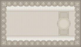 证件优惠券纸空白模板 免版税库存照片