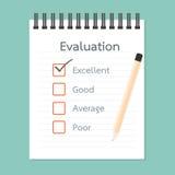 评估书和质量检查 免版税图库摄影