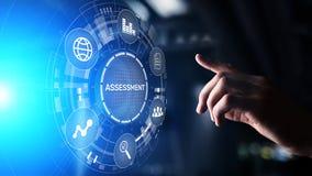 评估分析企业逻辑分析方法评估措施技术概念 免版税库存照片