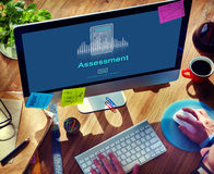 评估审计评估控制管理概念 图库摄影