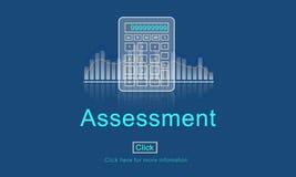 评估审计评估控制管理概念 免版税库存图片