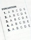 评估归档表单 库存图片
