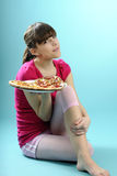 评估的食物讲师空白年轻人 库存照片