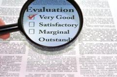 评估 免版税库存图片